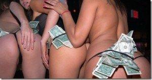 stripper with money