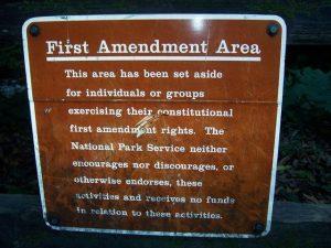 First_amendment_area_Muir_Woods